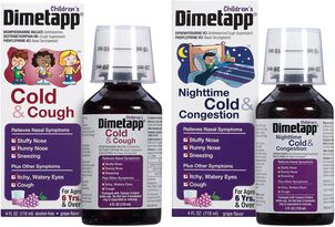 Children's Dimetapp Cold & Cough (4 oz.) and New Nighttime Cold & Congestion (4 oz.), Grape, 2-Pack