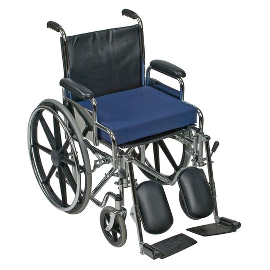 Mabis Standard Polyfoam Wheelchair Cushion, Navy, 1 ea, , large image number 1