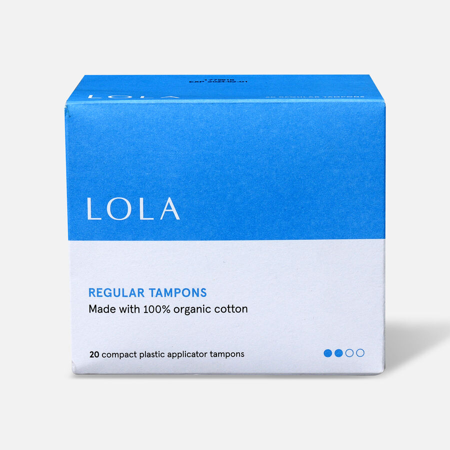 LOLA Tampons, Compact Plastic Applicator, 20ct, , large image number 1