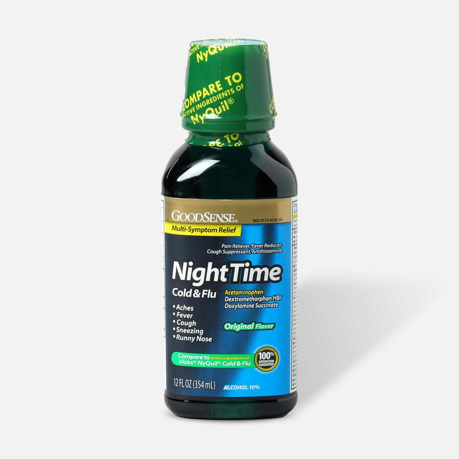 GoodSense® Night Time Cold and Flu Multi Symptom Original, , large image number 0