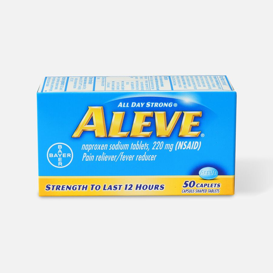 Aleve All Day Strong Pain Reliever, Fever Reducer, Caplet, 50 ea, , large image number 0