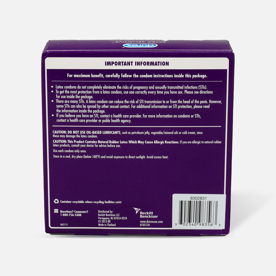 Durex Extra Sensitive Ultra Thin Condom, 24 ea, , large image number 1