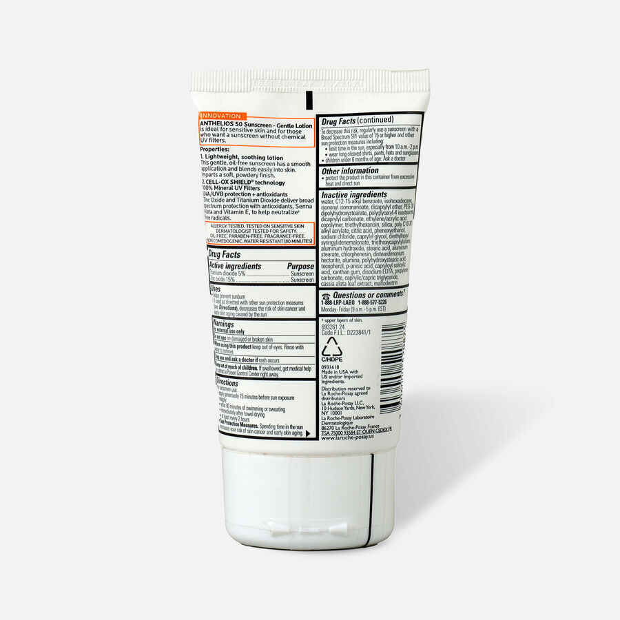 La Roche-Posay Anthelios Gentle Lotion Mineral Sunscreen, SPF 50, , large image number 3