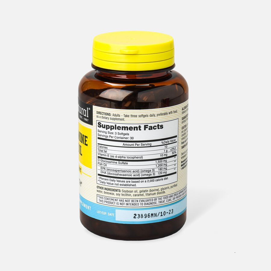 Mason Vitamins Natural Glucosamine & Fish Oil,  90 softgels, , large image number 1