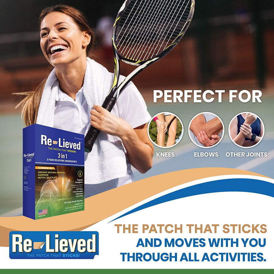 Re-Lieved 3-in-1 Pain Relief Patches, 60 ct, , large image number 4