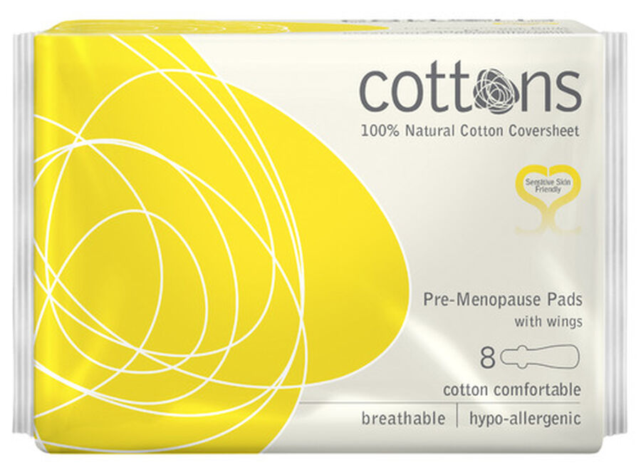 Cottons Pre-Menopause Pads, 8ct, , large image number 2