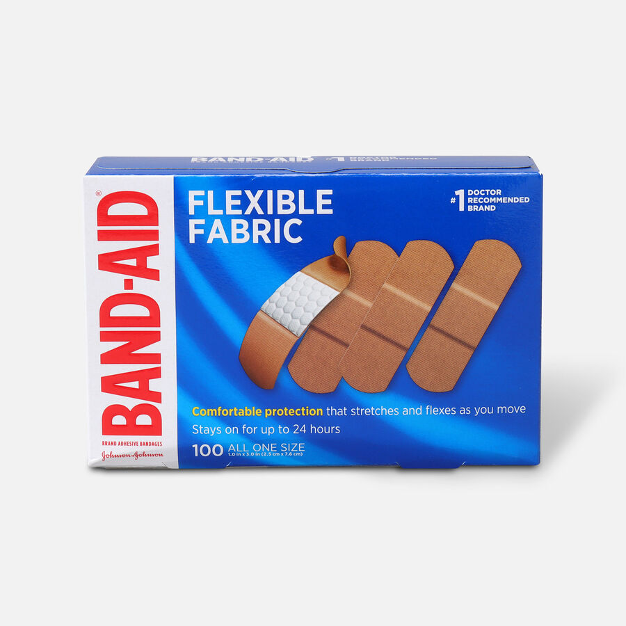 Band-Aid Flexible Fabric Adhesive Bandages, One Size, 100 ct, , large image number 0