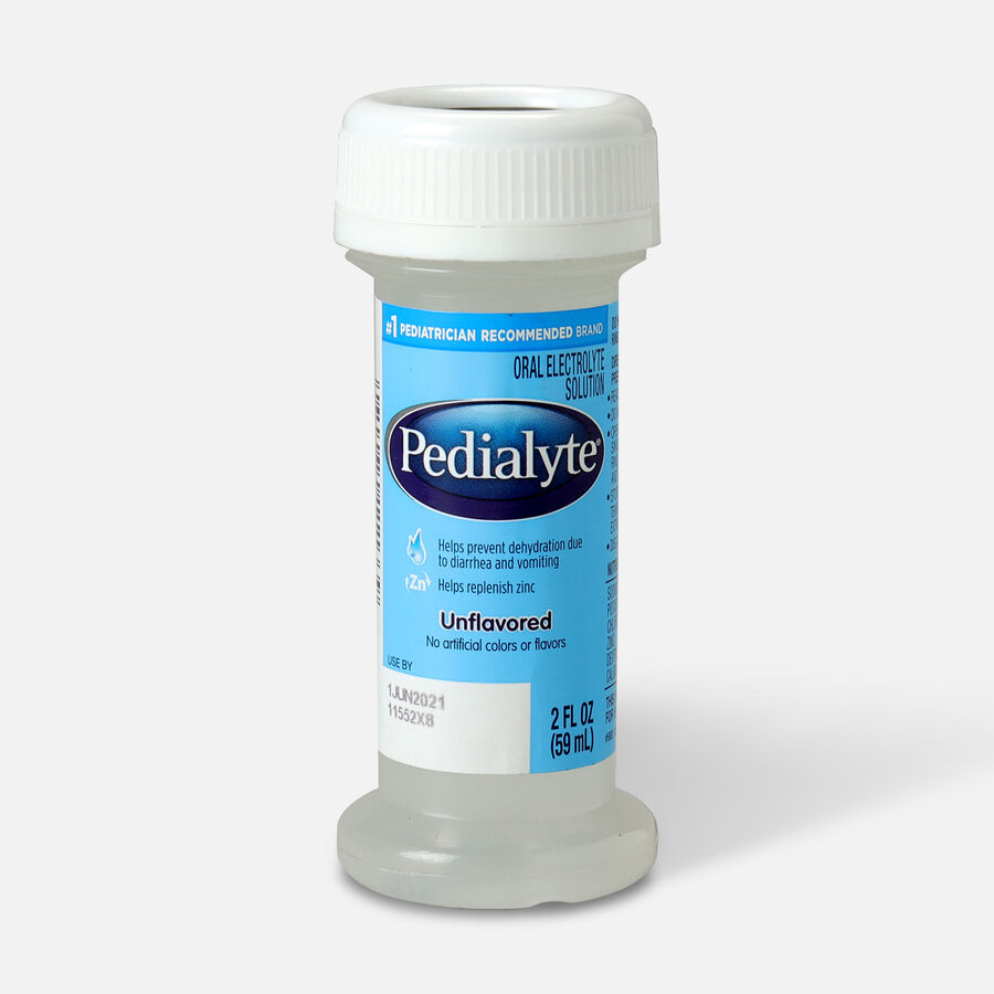 Pedialyte® Classic Electrolyte Solution, Institutional, Unflavored, 2 oz Bottle, , large image number 0