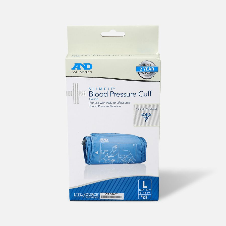 "A&D Replacement Slim Fit Blood Pressure Cuff, 12.2""-17.7"", , large image number 0"