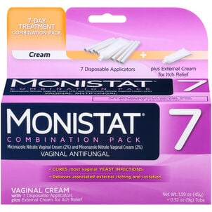 Monistat 7, Cure and Itch Relief Suppositories