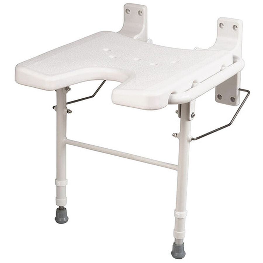 Healthsmart® Wall Mount Fold Away Shower Seat Bench, , large image number 2