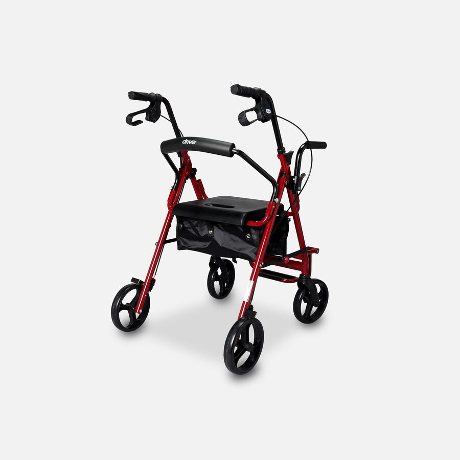 Drive Duet Rollator/Transport Chair, Burgundy, , large image number 1