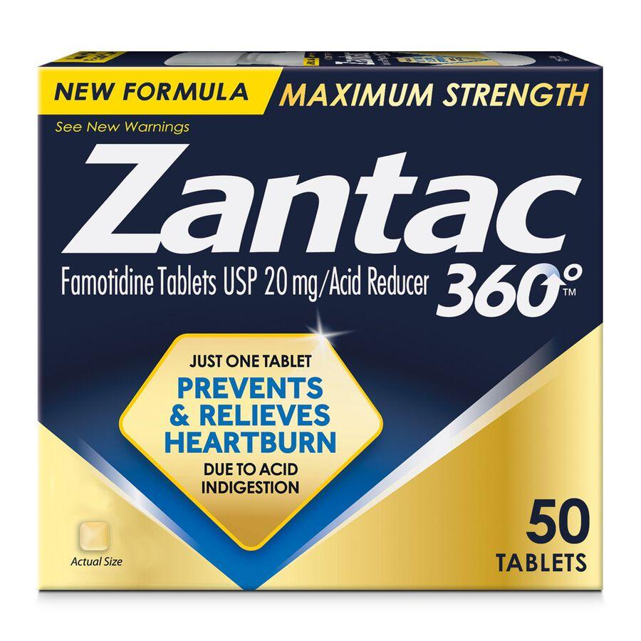Zantac 360 Maximum Strength Acid Reducer, 20 mg Tablets, , large image number 1