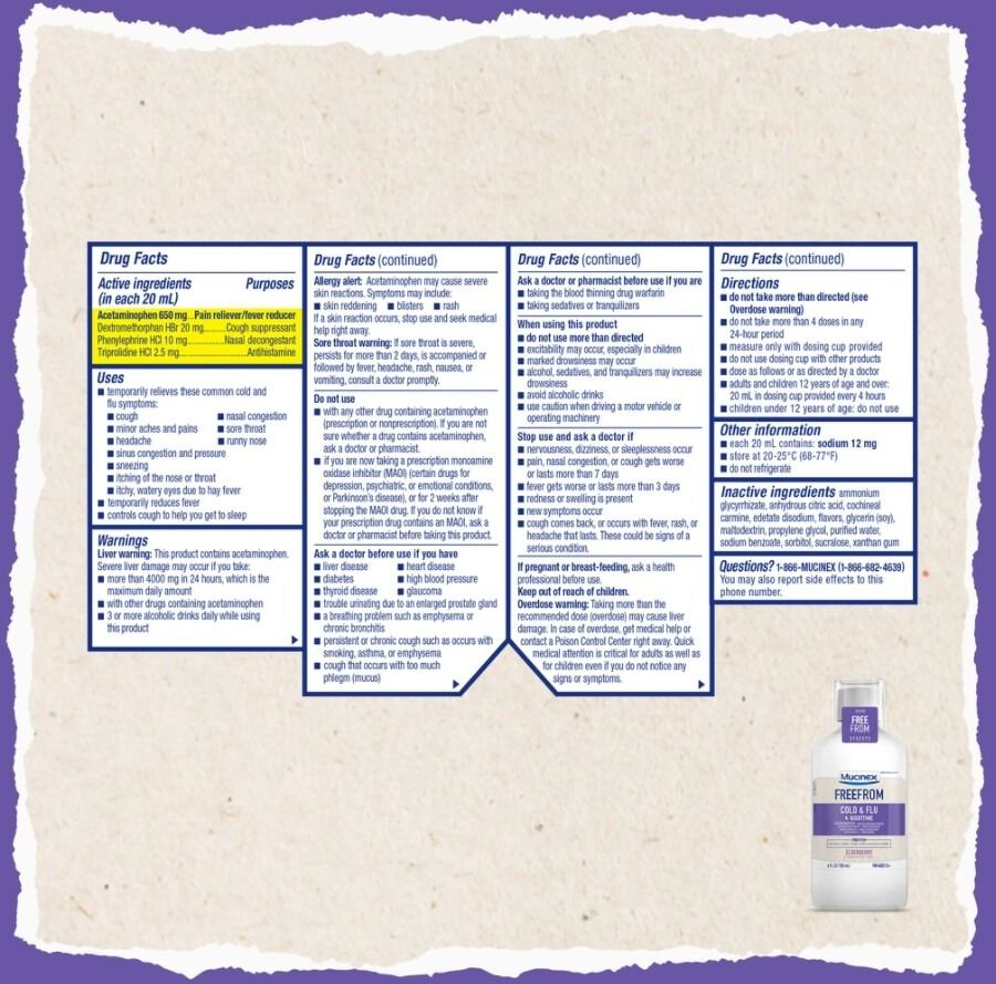 MUCINEX Adult Cold and Flu, Nighttime, , large image number 1
