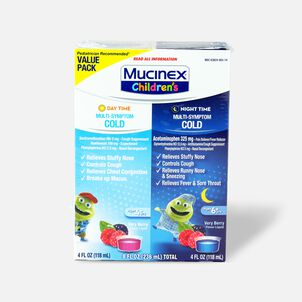 Mucinex Children's Multi-Symptom Liquid Day Night 4 oz - 2-Pack