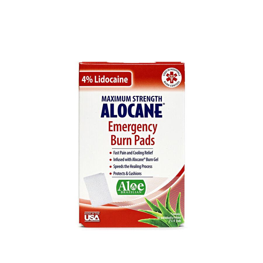 Alocane Maximum Strength Emergency Burn Pads, 10 ct, , large image number 1