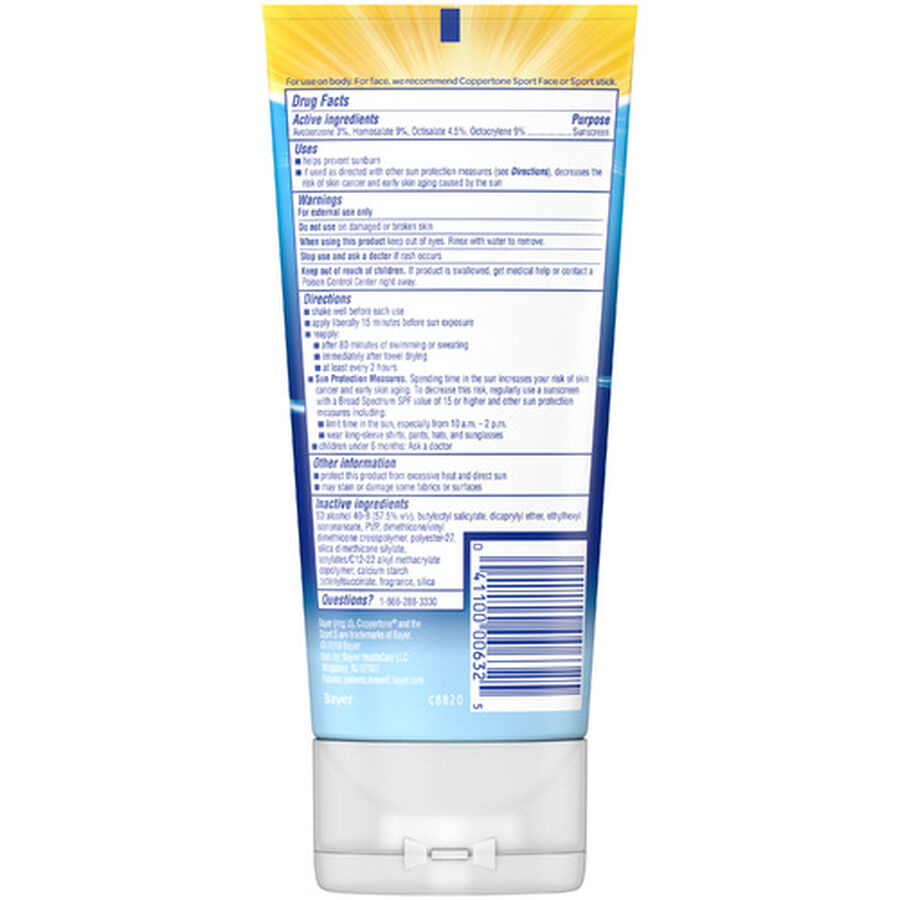 Coppertone Sport Clear Sunscreen Lotion, Spf 50, 5 Oz, , large image number 1