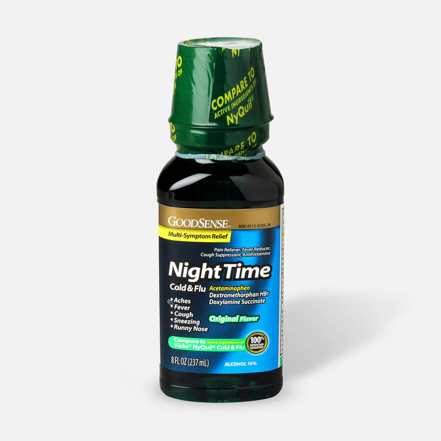 GoodSense® Night Time Cold and Flu Multi Symptom Original, , large image number 3