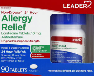 LEADER™ Allergy Relief 24 Hour 10mg Tablets 90 ct