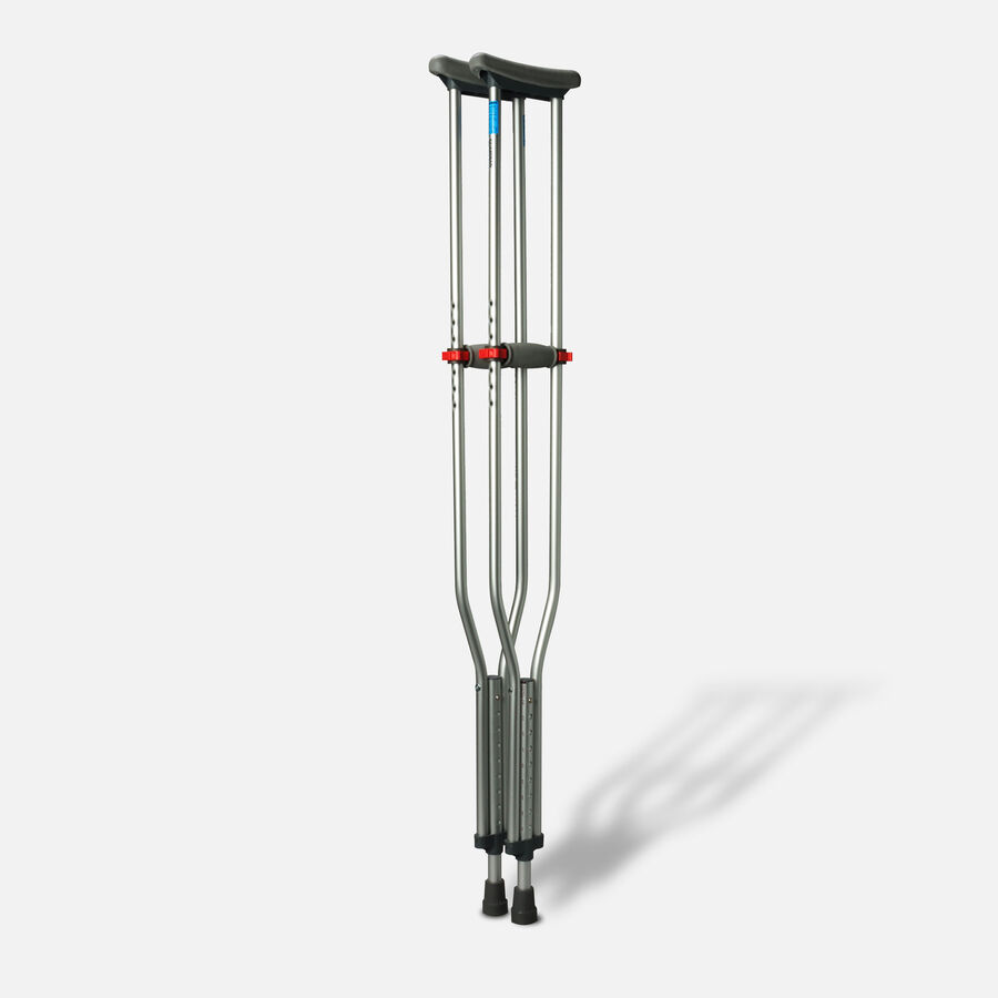 Medline Red Dot Button Crutches - 1 Pair, , large image number 3