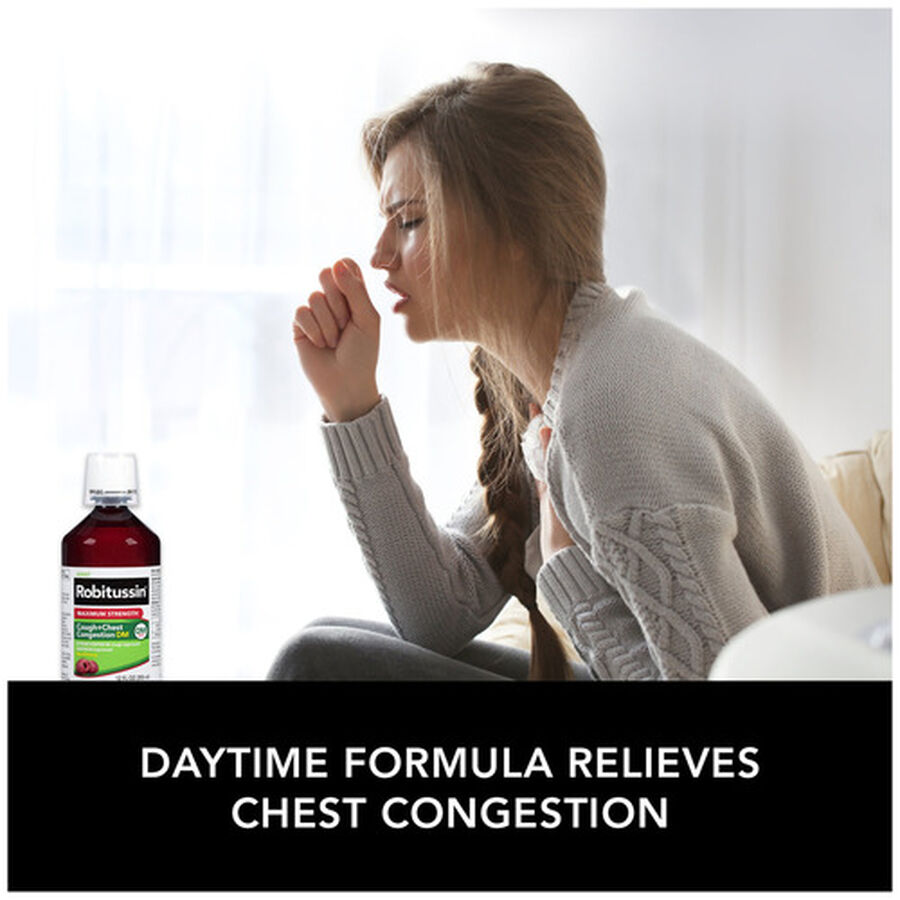 Robitussin Max Strength Cough and Chest Congestion DM Non-Drowsy Liquid, 12 oz, , large image number 5