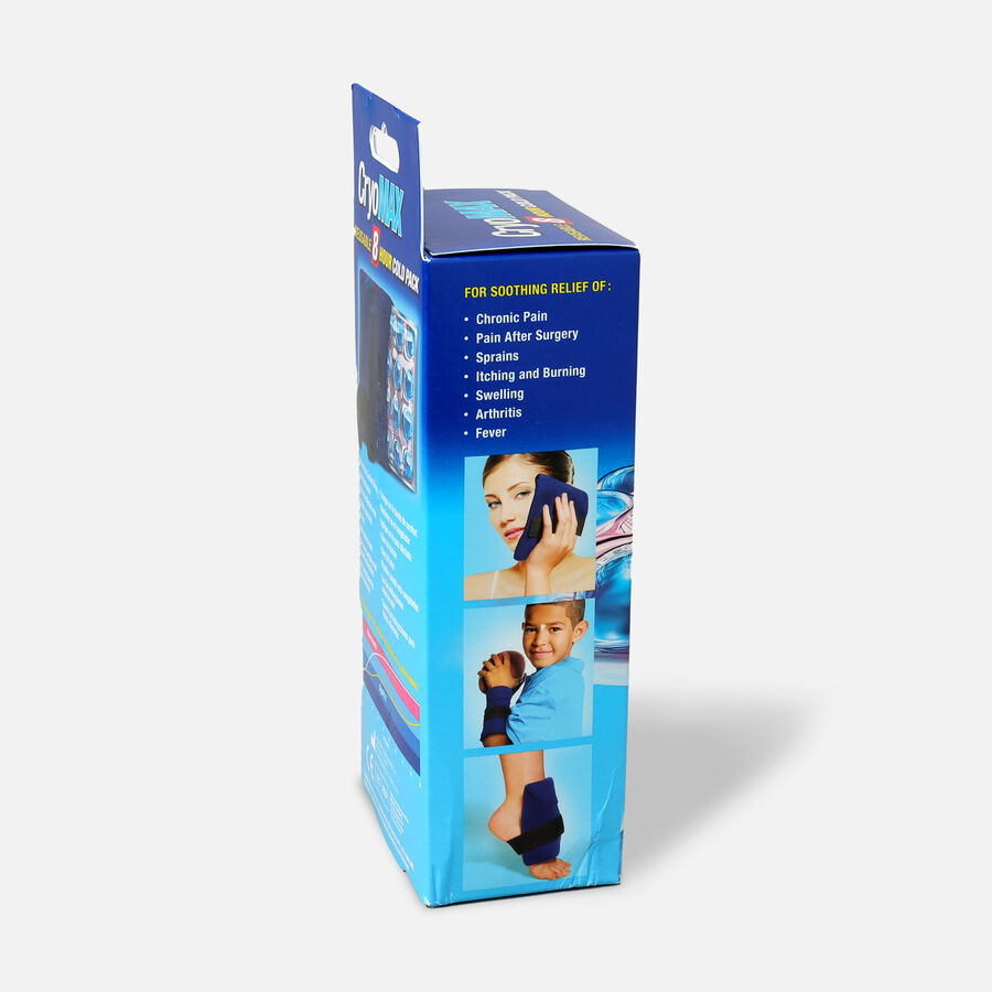Cryo-Max 8 Hour Cold Pack with Flexible Straps Small, 6 x 6 in., , large image number 2