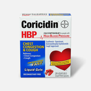 Coricidin HPB Chest Congestion & Cough, Liquid Gels, 20ct