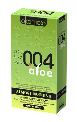 Okamoto .04 mm Zero Zero Four Aloe Condoms 10 ct
