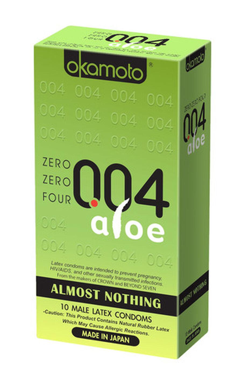 Okamoto .04 mm Zero Zero Four Aloe Condoms 10 ct, , large image number 0