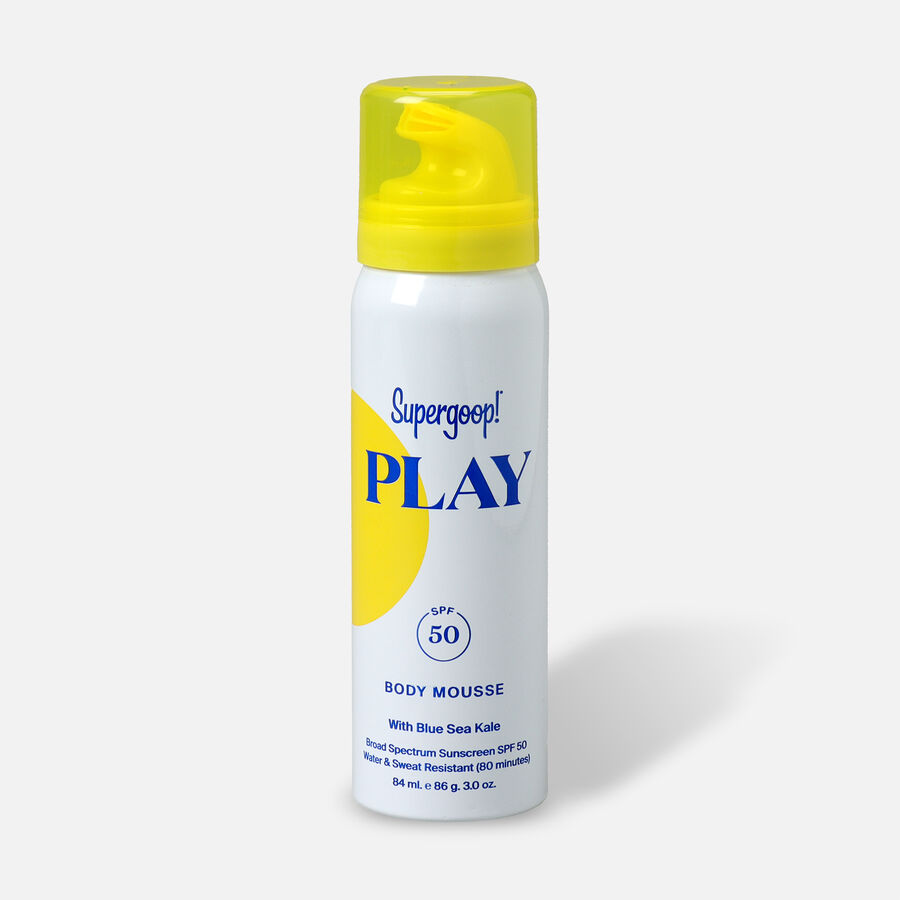 Supergoop! PLAY Body Mousse SPF 50 with Blue Sea Kale, , large image number 0
