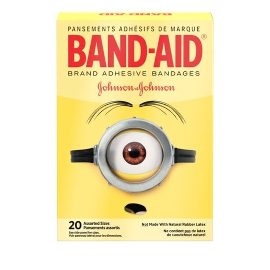 Band-Aid Adhesive  Assorted Bandages, Minions, 20 ct., , large image number 0