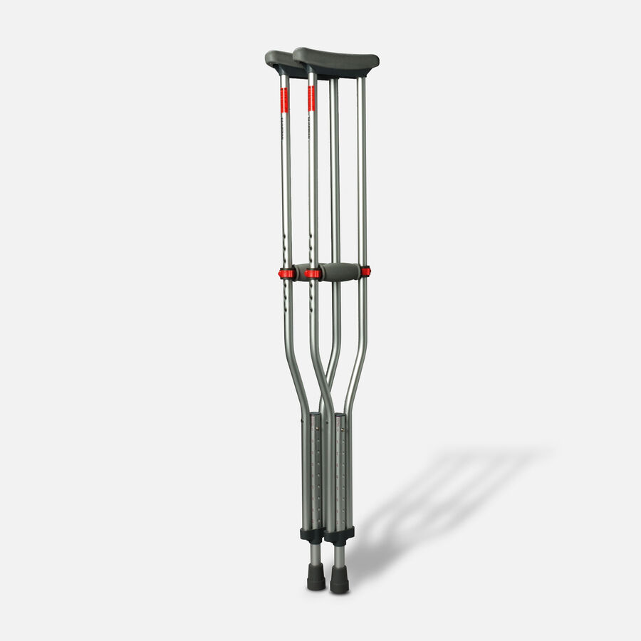 Medline Red Dot Button Crutches - 1 Pair, , large image number 1