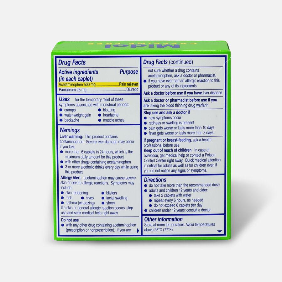 Midol Caffeine Free Caplets, 24 ct, , large image number 1