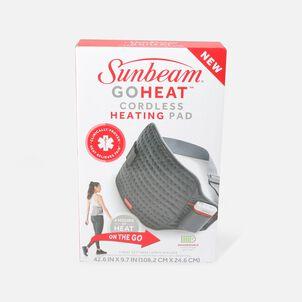 Sunbeam GoHeat Cordless Basic Heating Pad, Gray, 3 Heat Settings