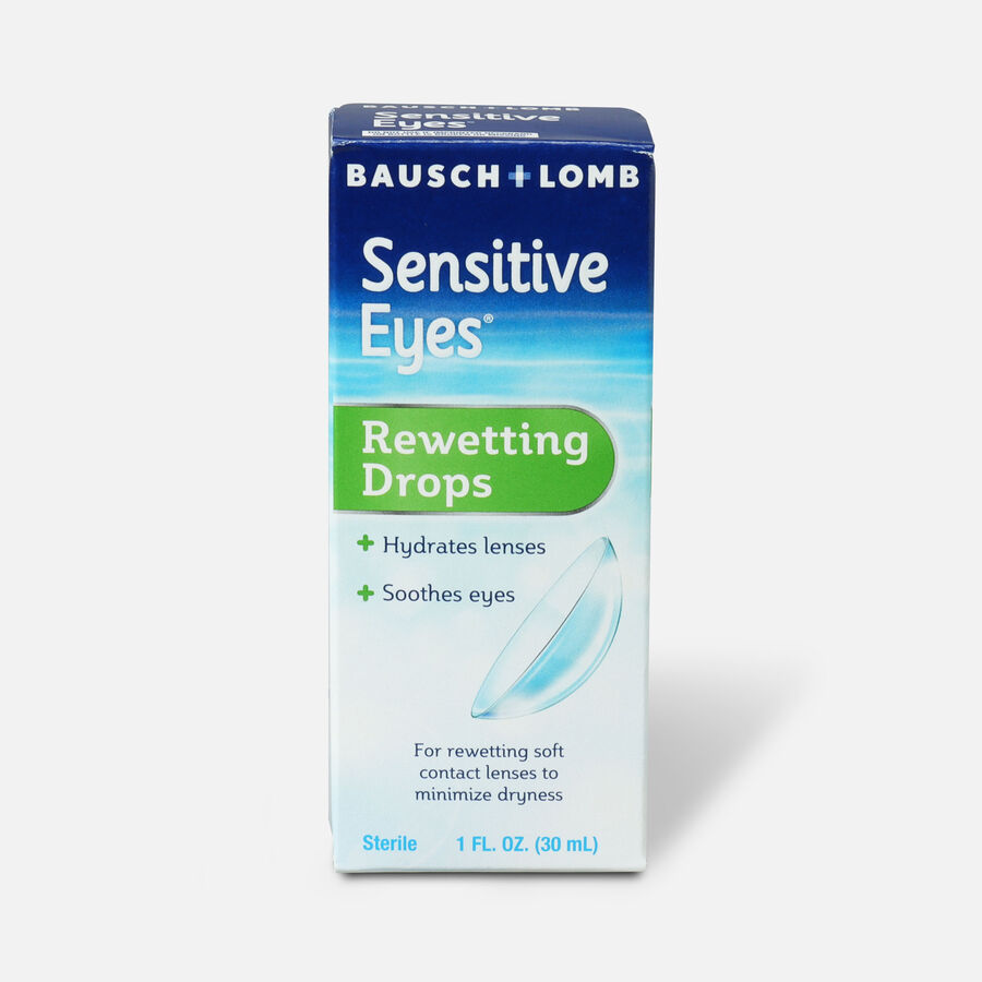 Sensitive Eyes Drops for Rewetting Soft Lenses to Minimize Dryness, 1 fl oz, , large image number 0