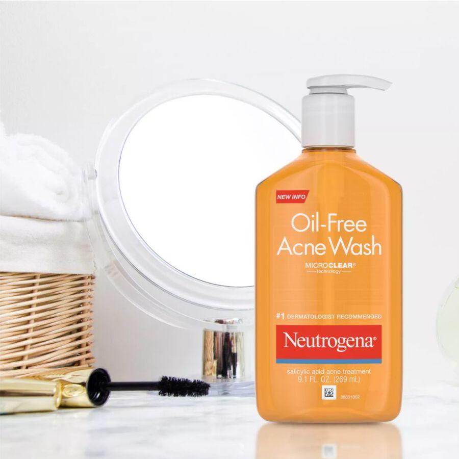 Neutrogena Oil-Free Acne Wash 9.1 fl oz, , large image number 2