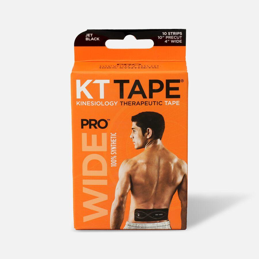 """KT Tape PRO Wide, 4"""" x 10"""", Black, 10 ct, , large image number 0"""