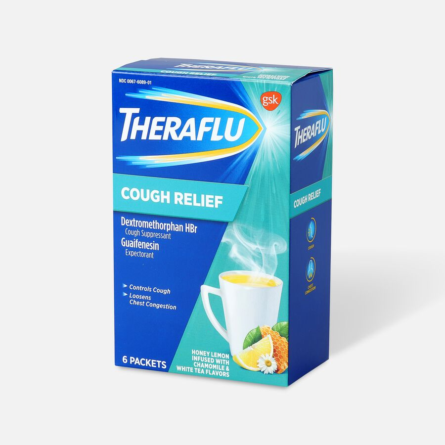 Theraflu Cough Relief Powder, Honey Lemon with Chamomile and White Tea, 6 ct, , large image number 2