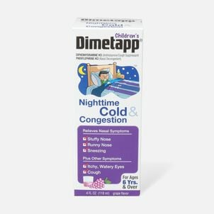 Children's Dimetapp Nighttime Cold & Congestion, Grape, 4 oz.
