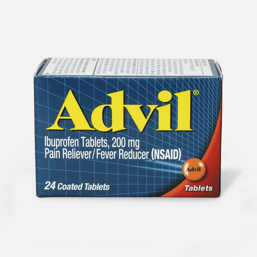 Advil Pain Reliever and Fever Reducer Coated Tablets, 200mg, 24 ct, , large image number 1