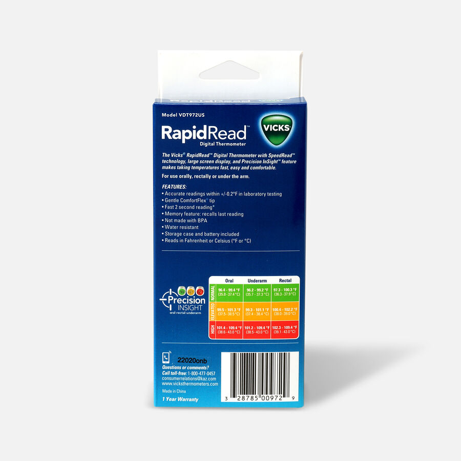 Vicks®  RapidRead Thermometer, , large image number 1
