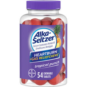 Alka-Seltzer Relief Chews Heartburn + Gas Tropical Punch, 54 ct