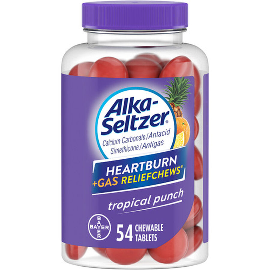Alka-Seltzer Relief Chews Heartburn + Gas Tropical Punch, , large image number 2