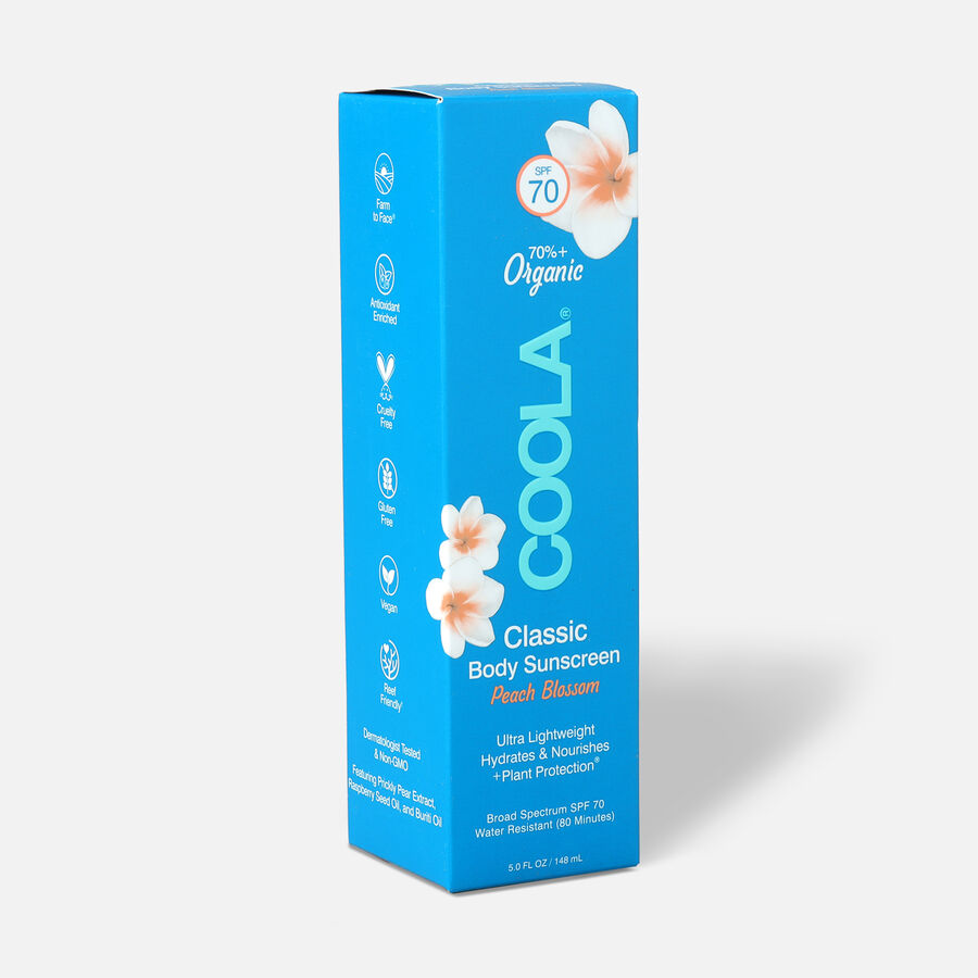 Coola Classic Body Organic Sunscreen Lotion SPF 70 Peach Blossom, 5oz., , large image number 3