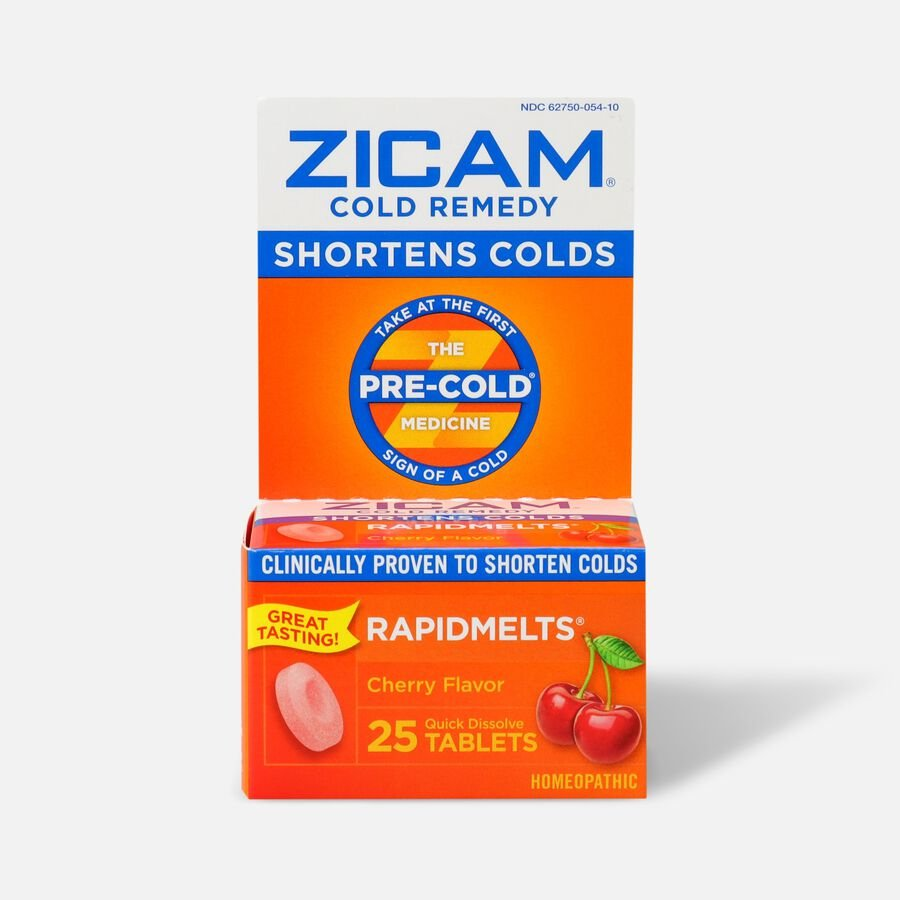 Zicam Cold Remedy Homeopathic Rapid Melts, Cherry, 25 ea, , large image number 0