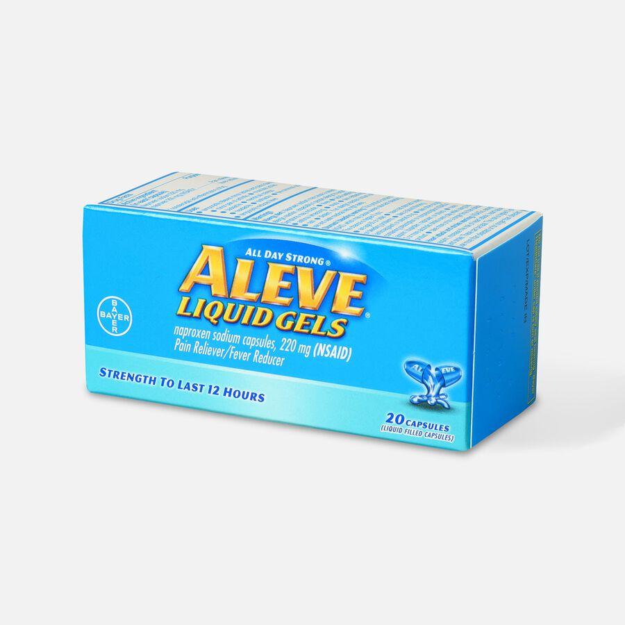 Aleve Liquid Gels Pain Reliever/Fever Reducer, 20 ea, , large image number 2