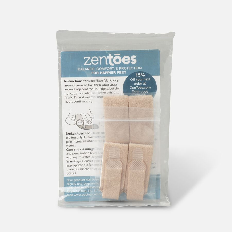 ZenToes Broken Toe Wraps Cushioned Bandages - 4 Pack, , large image number 1