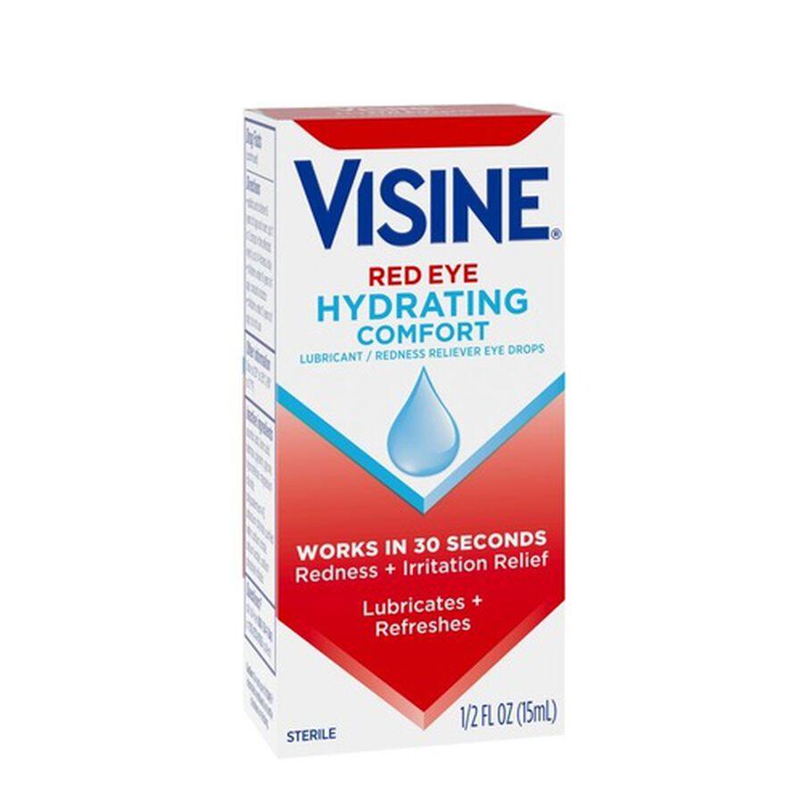 Visine Red Eye Hydrating Comfort Lubricating Eye Drops, 0.5 fl. oz, , large image number 3
