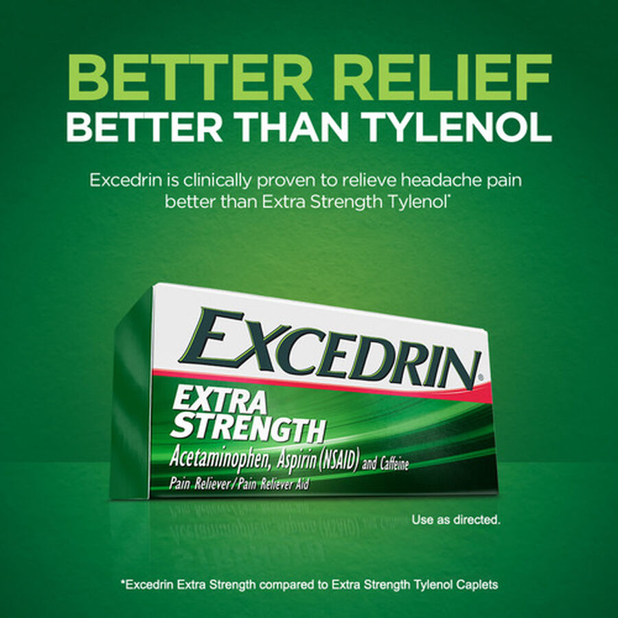 Excedrin Extra Strength Caplets, 100 ct, , large image number 5