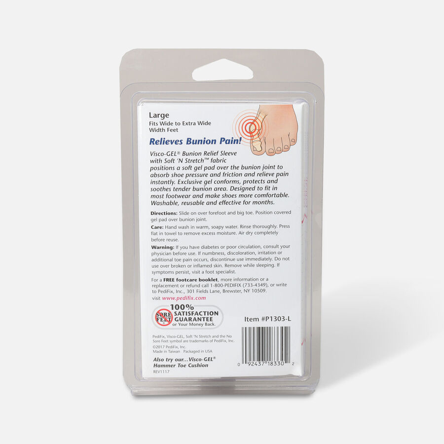 Pedifix Visco-GEL Bunion Relief Sleeve, , large image number 1